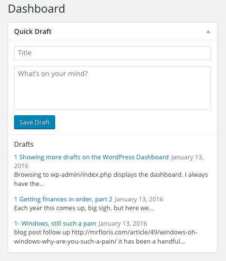 drafts default